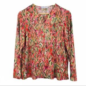 TanJay Multicolor zip up Jacket women size PM
